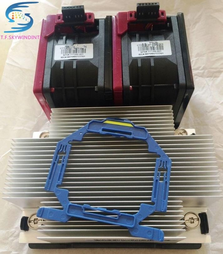 free ship For DL380 Gen9 V4 V3 CPU Heatsink 747608 001 777290 001 And 2 Fans