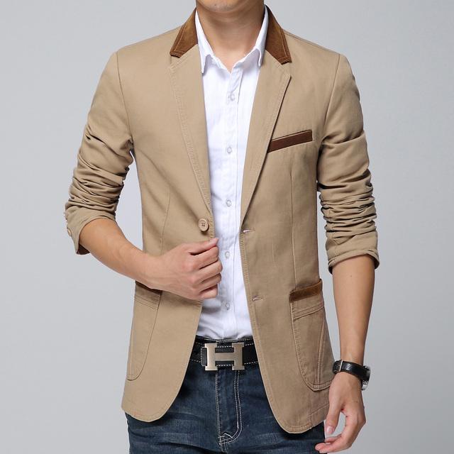 2016 boutique qualidade slim fit lazer algodão terno do lazer dos homens/Masculino moda joker pure color lazer jacket/homens da moda casaco