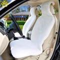 2016 nueva venta caliente universal genuino 100% de piel de oveja cubierta de asiento de coche del coche interior del coche accesorios para el coche-cubre titular c025