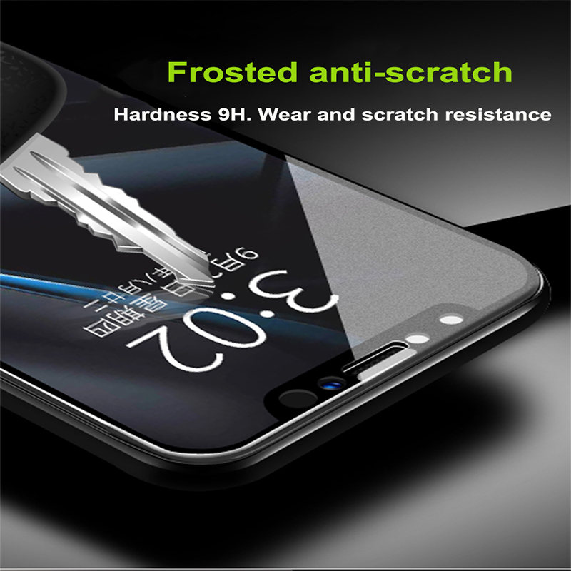 Frosted Matte Screen Protector Tempered Glass For iPhone 7 8 Plus X XS MAX 1