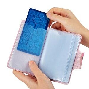 Image 2 - Biutee 24 חריצים בול נייל ארט צלחות פלייט מחזיק אחסון תיק עמיד עור מפוצל מקרי חותמת תיק ארגונית