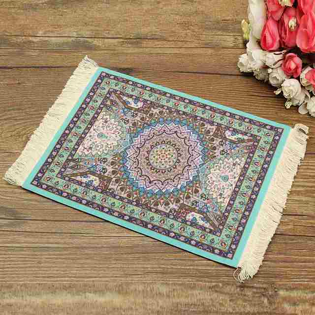 Persian Rug Mouse Pad Custom Bohemian Style Mat High Definition Printing Computer Home