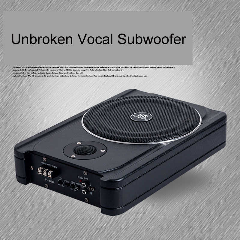 600W Car Subwoofer Super Power 12V Sub Bass Woofer Car Under Seat  Slim Subwoofer With Active Amplifier Audio and Car Tweeter