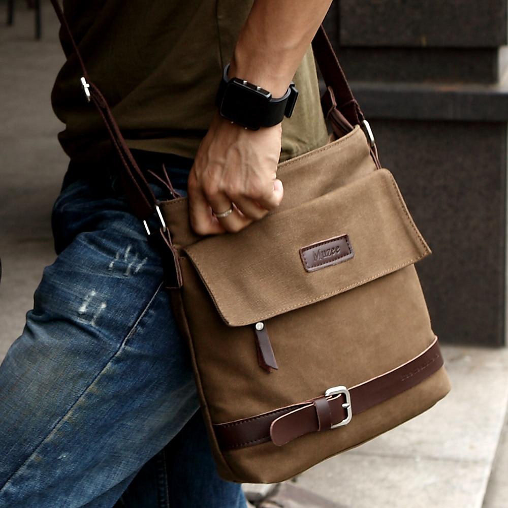 56a22e1eb841 New Men s Vintage Canvas Messenger Shoulder Bag Satchel Casual Coffee  Medium 11
