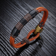 CG1 for K recommends new trends in Europe and America New Year gift all-match retro fashion men's Leather Bracelet
