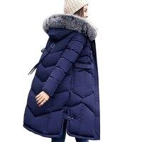MSFILIA 2017 Winter Women Hooded Coat Fur Collar Thicken Warm Long Jacket Female Plus Size 3XL