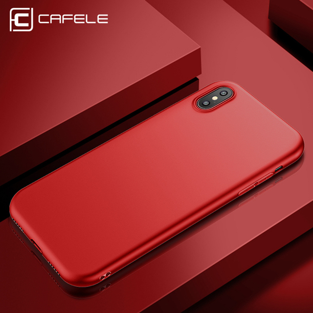 Original CAFELE Back Matte Soft Silicon Case for iPhone X  Candy Colors Full Cover iPhone X Case  Fashion Ultra-thin Phone Cases