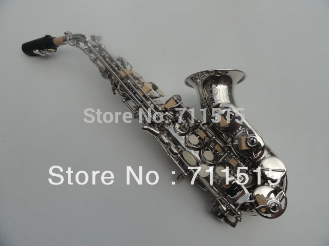 Brand Selmer Saxophone B Soprano Saxofone Saxophone and Mouthpiece Henry Reference 54 Sax Nickel Plated instrumentos musicales brand new france henri selmer soprano saxophone 80 black nickel gold sax mouthpiece with case and accessories