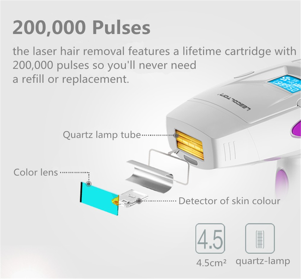 Lescolton IPL Epilator permanent Hair Removal Laser Home Pulsed Light Hair Remover machine depilador a laser for face Armpit in Epilators from Home Appliances