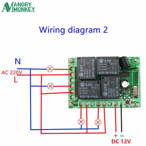Image 5 - 433.92 Mhz Universal Wireless Remote Switch DC12V 4CH Relay Receiver Module and 5 Peices 4 Channel RF Remote 433 Mhz Transmitter