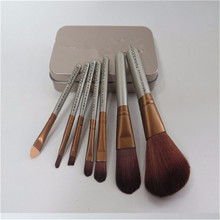 2016 hot selling 7 pcs professional makeup brush sets Makeup Tool Kit makeup tools Makeup brush free shipping With box