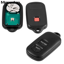 2 Buttons Remote Car Key Fob Shell HYQ12BBX For Toyota FJ Cruiser Prius RAV4 Highlander Tacoma Tundra Auto Replacement