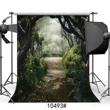 Fotoğraf fotoğraf stüdyosu için arka planlar orman kaleler peri masalı vinil kumaş portre fotoğraf arka planında düğün için çocuk bebek