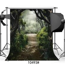 Fotografia Sfondi per Foto In Studio Foresta Castelli Fiaba Del Vinile Panno Ritratto Foto Fondali per la Cerimonia Nuziale Per Bambini Del Bambino