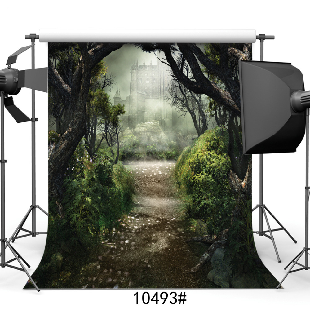 Photography Backgrounds for Photo Studio Forest Castles Fairy Tale Vinyl Cloth Portrait Photo Backdrops for Wedding Kids Baby кассовая кабина патша кк 70м