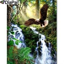 DIAPAI Diamond Painting 5D DIY 100% Full Square/Round Drill Eagle river sceneryDiamond Embroidery Cross Stitch 3D Decor A24654