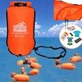20л надувной Открытый плавающий буй, плавающий сухой мешок, двойная воздушная сумка с поясным ремнем для плавания, сумка для хранения воды и ...