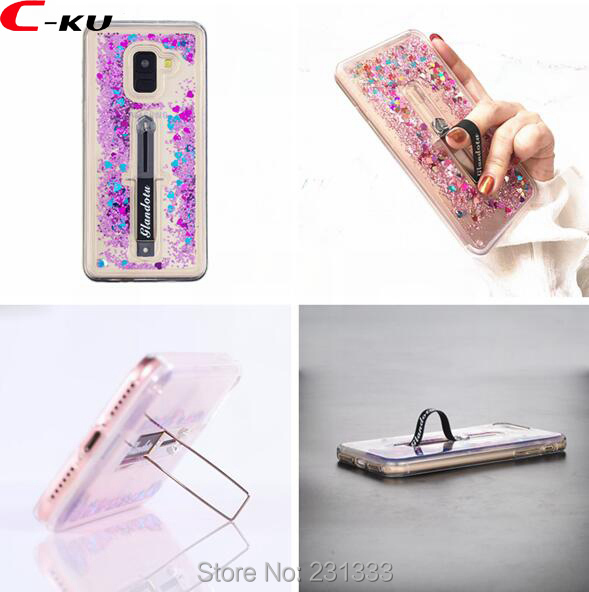 Beautiful C-ku Liquid Quicksand Tpu Pc Hard Case For Samsung Galaxy S8 A6 S9 A8 Plus 2018 J2 Pro J4 J6 J310 Glitter Stand Skin Luxury 1pcs An Enriches And Nutrient For The Liver And Kidney Cellphones & Telecommunications Half-wrapped Case