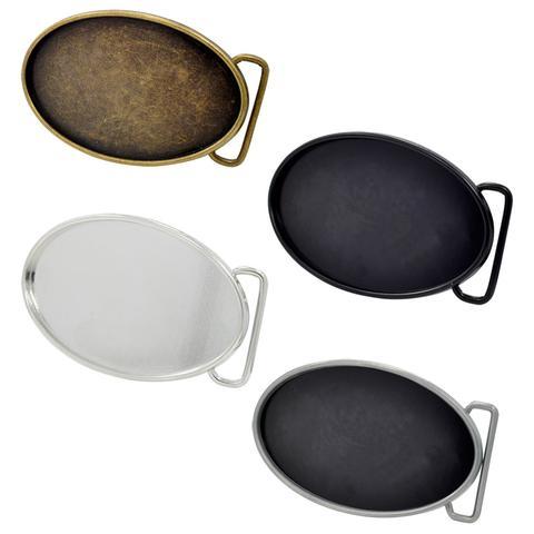 Wholesale Belt Buckle Blanks / Unisex Craft Rectangle Custom Blank Belt Buckle Oval