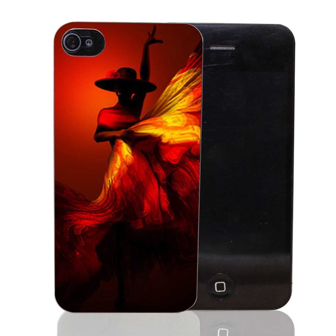 1327CA Flamenco female dancer Hard Transparent Case Cover for iPhone 4 4s 5 5s 5c SE 6 6s Plus Thin Style