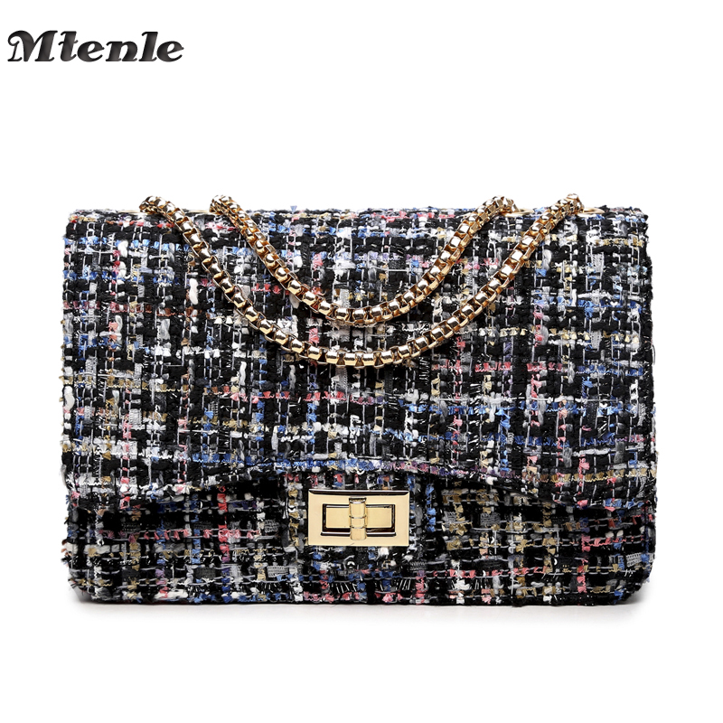 MTENLE Small Flap Shoulder Bags Women Messenger Gold Chain Cross Hand Bag Vintage Clutch Winter Satchel Woolen Crossbody  FI 2017 hot fashion women bags 3d diamond shape shoulder chain lady girl messenger small crossbody satchel evening zipper hangbags
