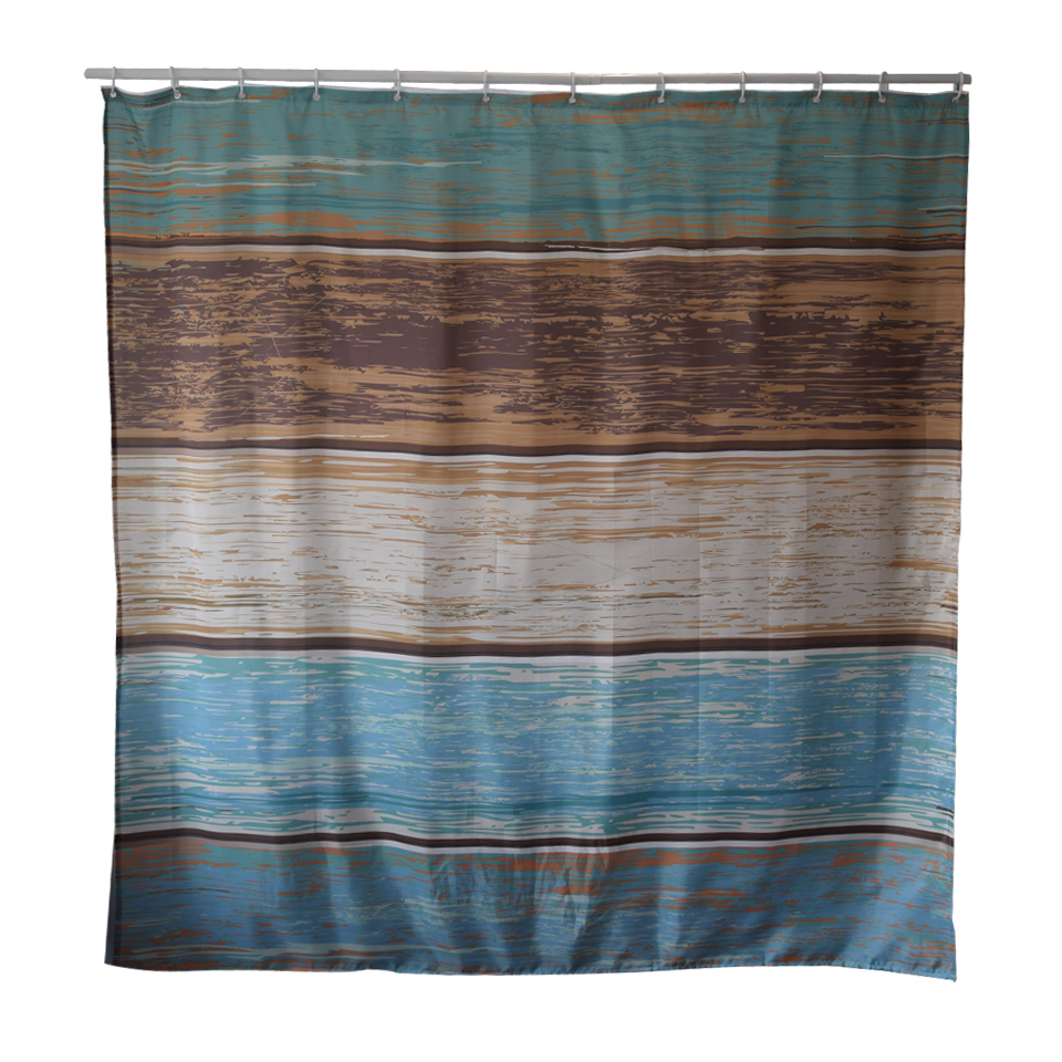 Papa&Mima The lake printed Waterproof Shower Curtains Polyester Bathroom Curtains With Hooks 180x180cm