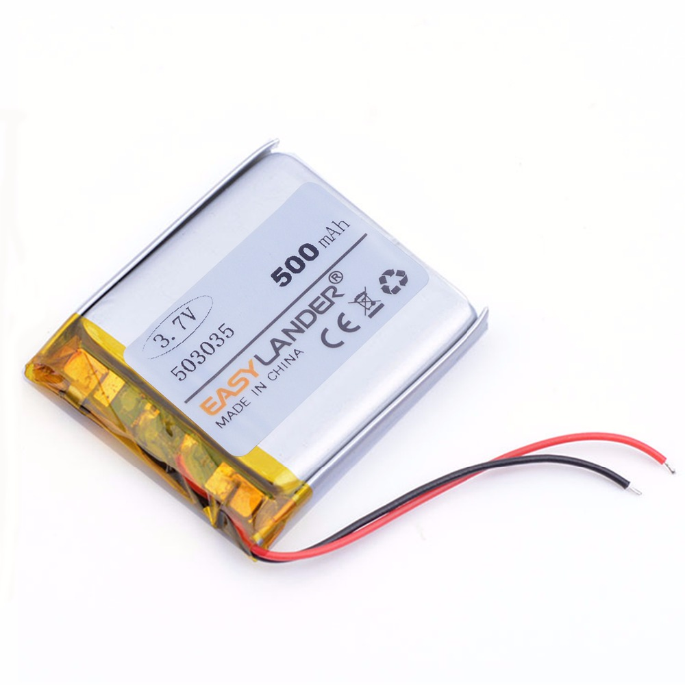 503035 3.7V 500mAh Rechargeable Lithium Li Polymer Li-ion Battery For Bluetooth Headset GPS PSP PDA MP3 MP4 MP5 DVR <font><b>053035</b></font> image