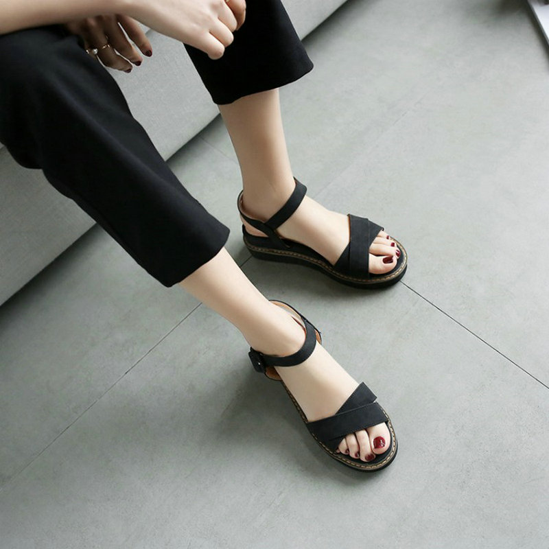 ZawsThia 2018 summer high quality flat heel shoes for woman sweet ladies leisure casual shoe gladiator women sandals size 45 46