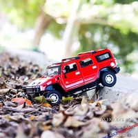 1 24 H2 Die Casts Car Model Off Road SUV Metal Vehicle Adult Car Toys For