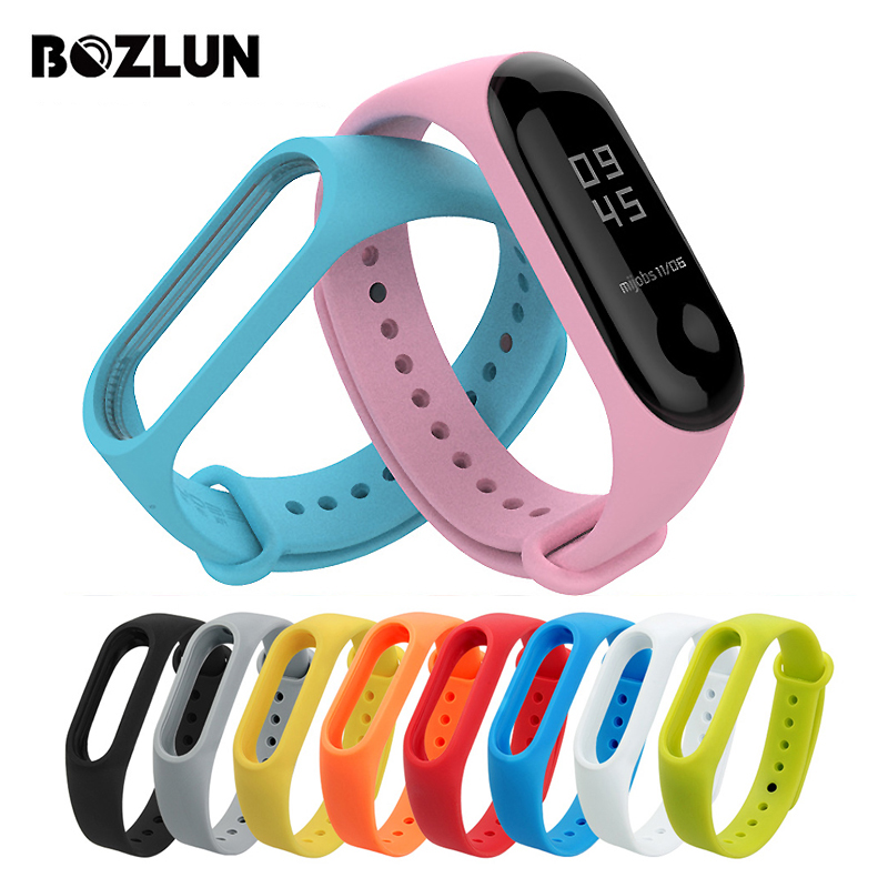 BOZLUN Smart Band Accessories Wrist Strap For Xiaomi Mi Band 2 Strap Mi Band Bracelet Silicone Replacement Colorful Wristband цена