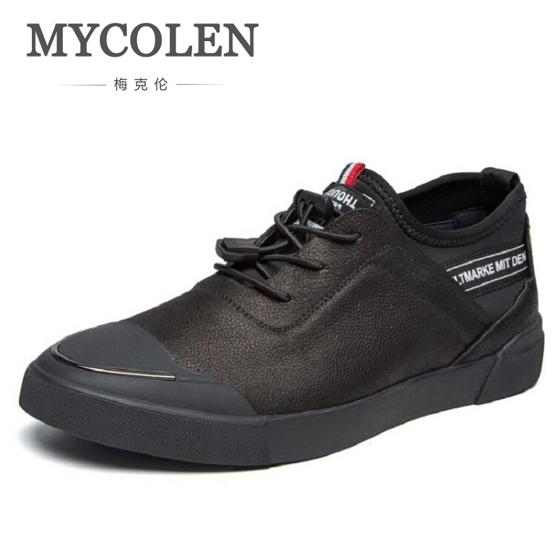 MYCOLEN Men Leather Shoes Brown Casual Handmade High Quality Lace Up Footwear Fashion Design Comfort Men's Shoes tenis masculino jiabaisi fashion casual design leather loafer comfort men s shoes jsb170314002