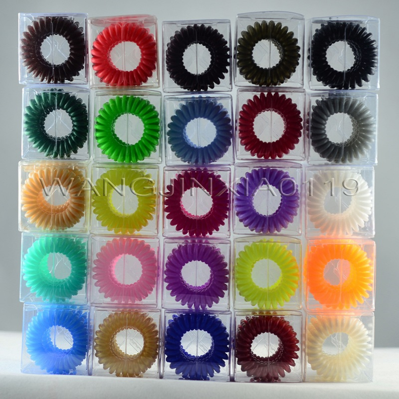 Fashion Traceless Hair Ring Clips Colorful Grip Hair grips For All Hair Types 4Pcs Pack With