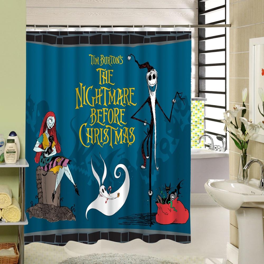 Monster Waterproof Shower Curtain Halloween Pattern Nightmare Ghost ...