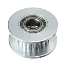 GT2 Gear Pulley 20 teeth 5mm Shaft For CNC RepRap 3D printer Mendel n88, Silver(China)
