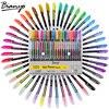 Bianyo 48 Color Gel Pens Set Refills Pastel Neon Glitter Sketch Drawing Color Pen Set School