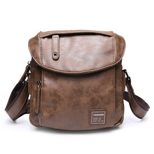 Side Bag for Men Work Messenger Package CrossBody Bags Portafolio Hombre Brown PU Leather Maletin Negro Vintage