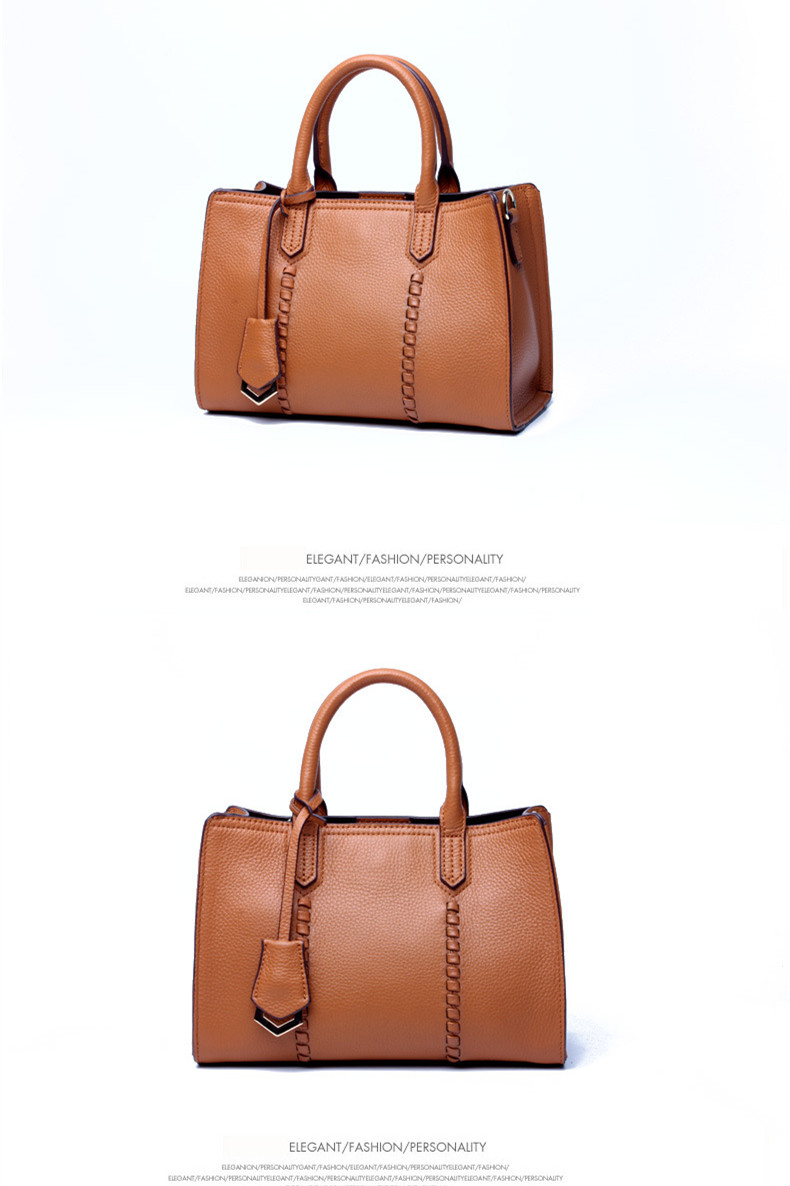 ZKW Promotion 100% First Layer Genuine Cow Leather Handbag Spring Women's Fashion  Classic Real Leather Bags Shoulder Bag
