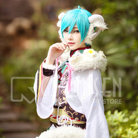 Ensemble Stars Scout! Zodiac (Part Two) Goat Shinkai Kanata Bloomed Cosplay Costume With horns Full Set Fancy Costume