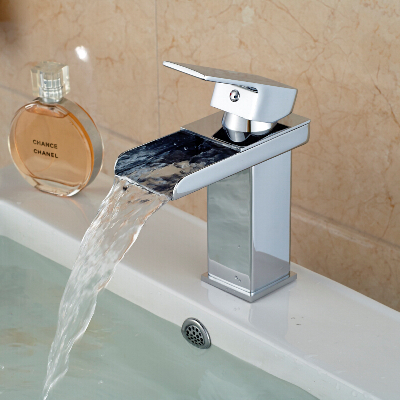 hot water in bathroom sink but not shower waterfall bathroom sink faucet chrome brass amp cold 26344