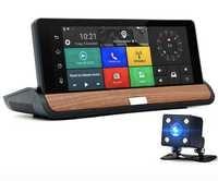 7 Inch IPS Car DVR Full HD 1080P Dual Lens With Rear View Camera ADAS Camera