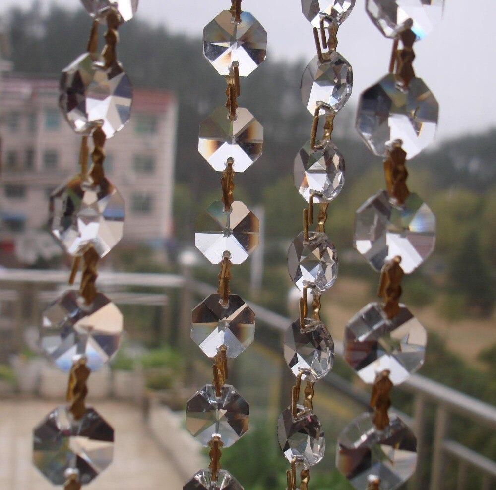 20mm motýl spony spojit 14mm osmiúhelník korálky řetěz GLASS CRYSTAL GARLAND prameny pro svatební vrchol