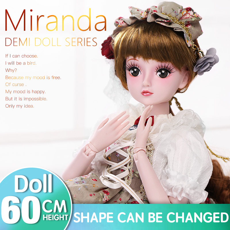 BARBIE 1/3 BJD Doll Princess Dolls 19 Joint Body Pretty Eyes Makeup Dress Toys for Children Birthday Gifts Wedding Evening Dress цена