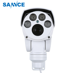 SANNCE Full HD 1080P AHD Camera 4in1 Autofocus Varifocal 5-50mm 10X Digital Zoom Pan/Tilt Bullet PTZ Camera IP66 In/outdoor
