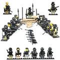 12 UNIDS Ataques Terroristas City Police Swat Equipo de soldados Del Ejército de Armas Pistolas LegoINGlys Héroes de Guerra Mundial Militar WW2 Figuras Bloques