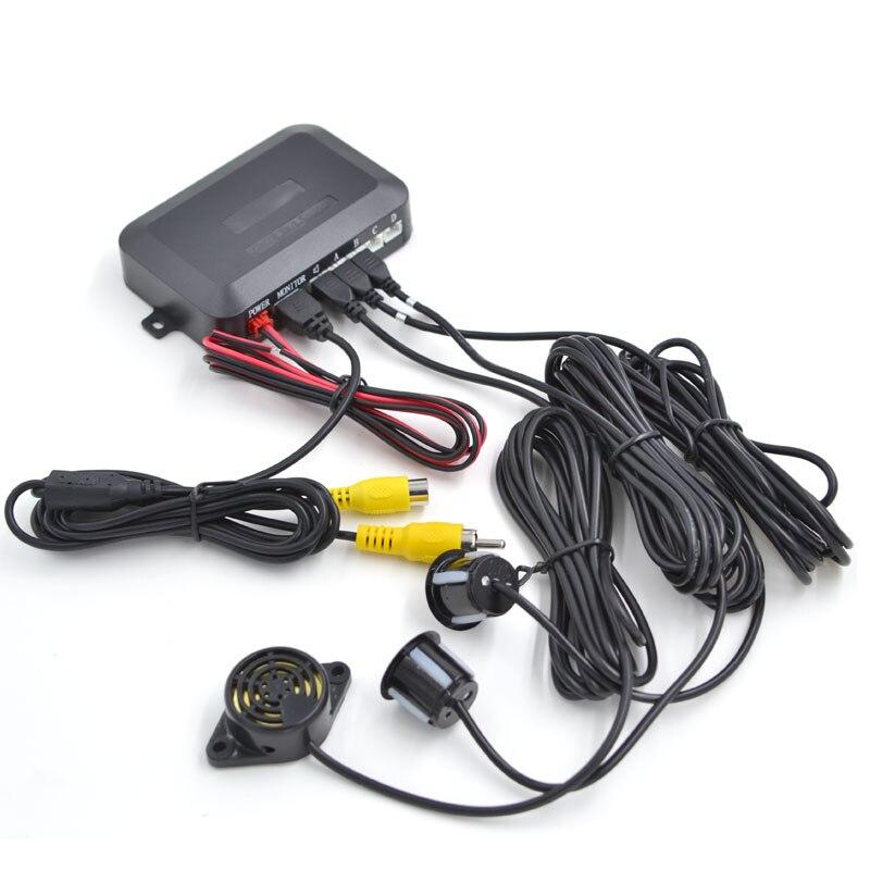 Автомобильная Лицензионная камера заднего вида CCD, парковочная камера, два радар заднего ход, парковочный датчик