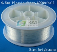 0.5mm diameter,6000M/roll,high brightness,PMMA plastic optical fiber lighting