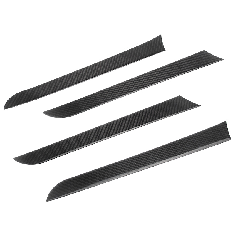 Image 2 - For Audi A4 B8 A5 2009 2010 2011 2012 2013 2014 2015 2016 Carbon Fiber 4pcs Window Door Panel Decor Cover Sticker Trim-in Interior Mouldings from Automobiles & Motorcycles