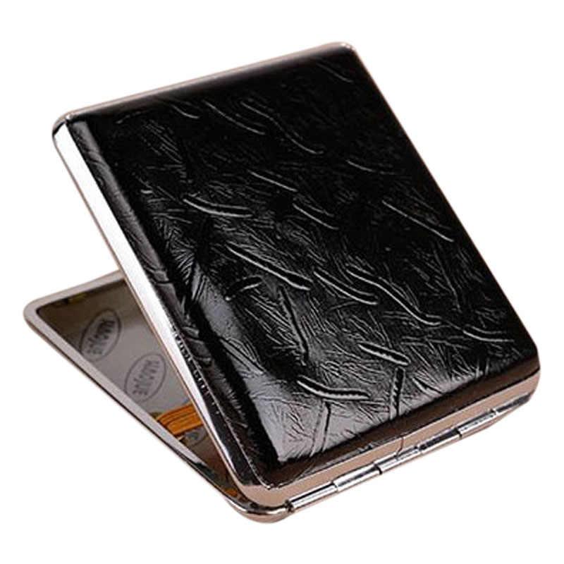 Retro หนังและโลหะบุหรี่กล่องใส่ยาสูบคอนเทนเนอร์ MAL999