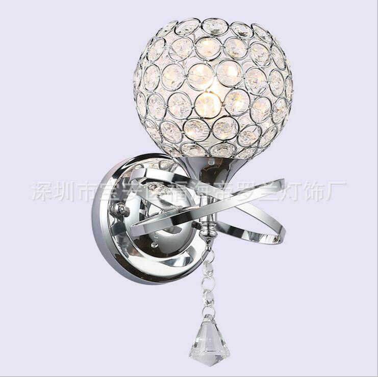 Bedroom bedside crystal wall lamp creative living room aisle wall lamp modern simple decoration hanging lamps for home led lamps creative waterproof flowers pattern wall stickers for living room bedroom decoration