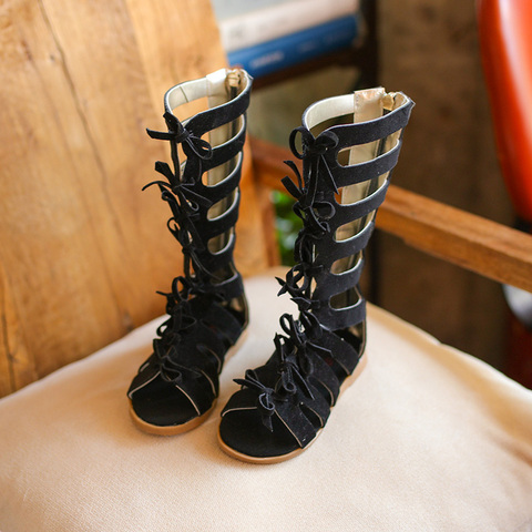 Hot sell summer fashion Roman boots High-top girls sandals kids gladiator sandals toddler child sandals girls high quality shoes Islamabad